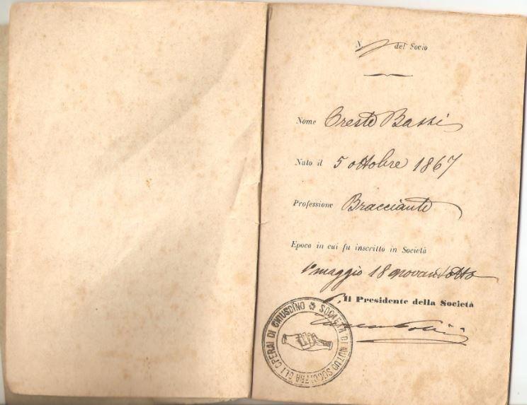 02. Statuto fondamentale della Società di Mutuo Soccorso fra gli operai di Chiusdino, 1895
