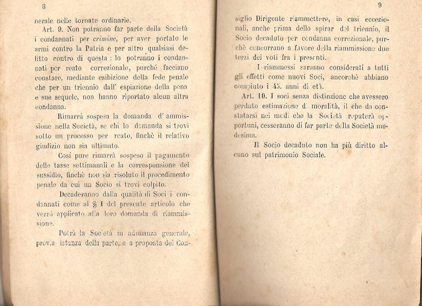 05. Statuto fondamentale della Società di Mutuo Soccorso fra gli operai di Chiusdino, 1895
