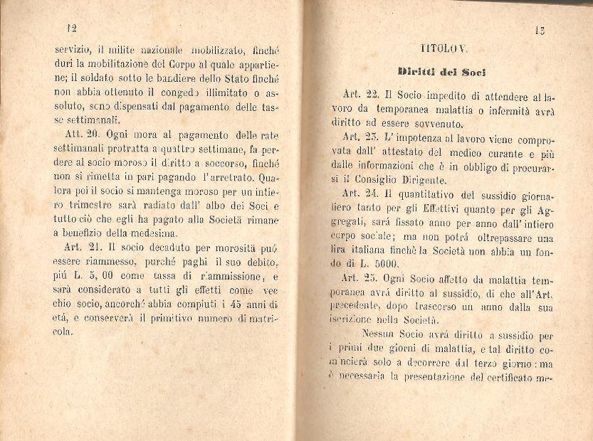 07. Statuto fondamentale della Società di Mutuo Soccorso fra gli operai di Chiusdino, 1895