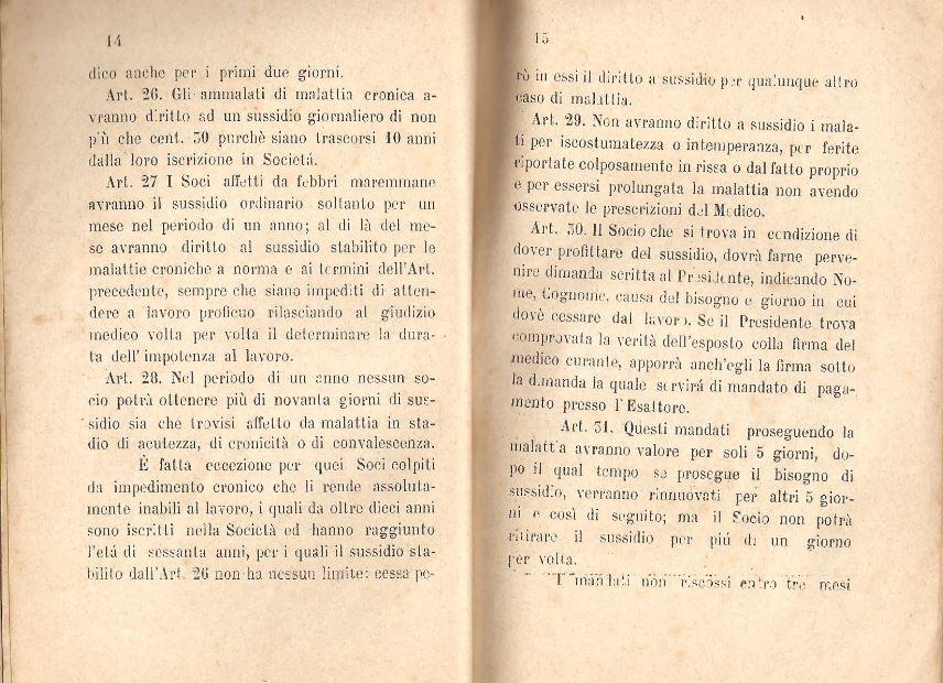 08. Statuto fondamentale della Società di Mutuo Soccorso fra gli operai di Chiusdino, 1895