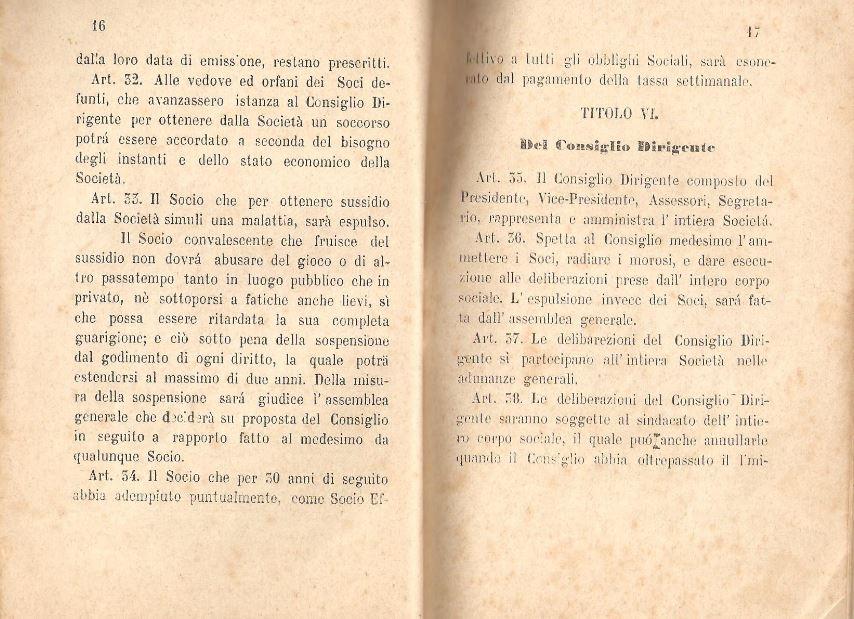 09. Statuto fondamentale della Società di Mutuo Soccorso fra gli operai di Chiusdino, 1895