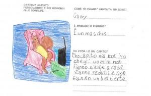 SScheda di un alunno della classe 4^  di Scuola primaria (Istituto E. De Amicis, Grosseto, a.s. 2012-132013). (Illustrazione Manuela Barzagli, progetto Barbara Solari)